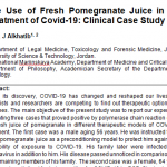 Pomegranate juice and covid-19
